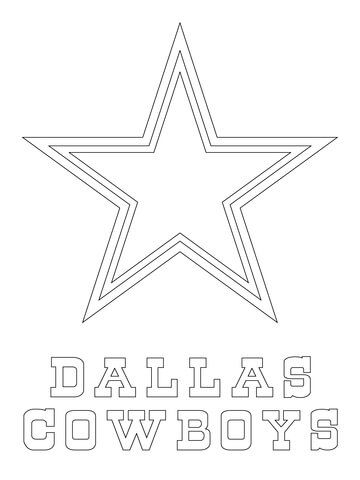 Dallas Cowboys Logo Coloring Page Crafts Pinterest