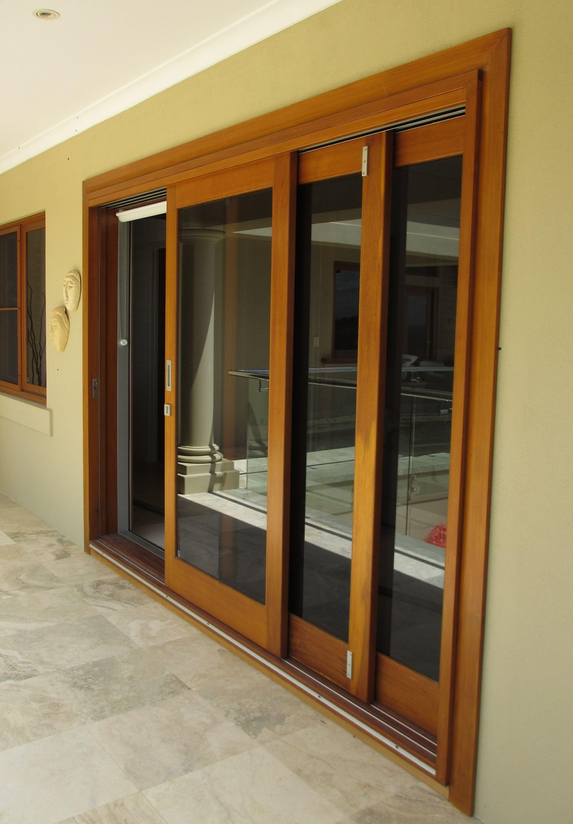 Fly screen for sliding stacker doors stacker doors