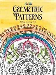 Darice Geometric Pattern Theme Coloring Books for Adults
