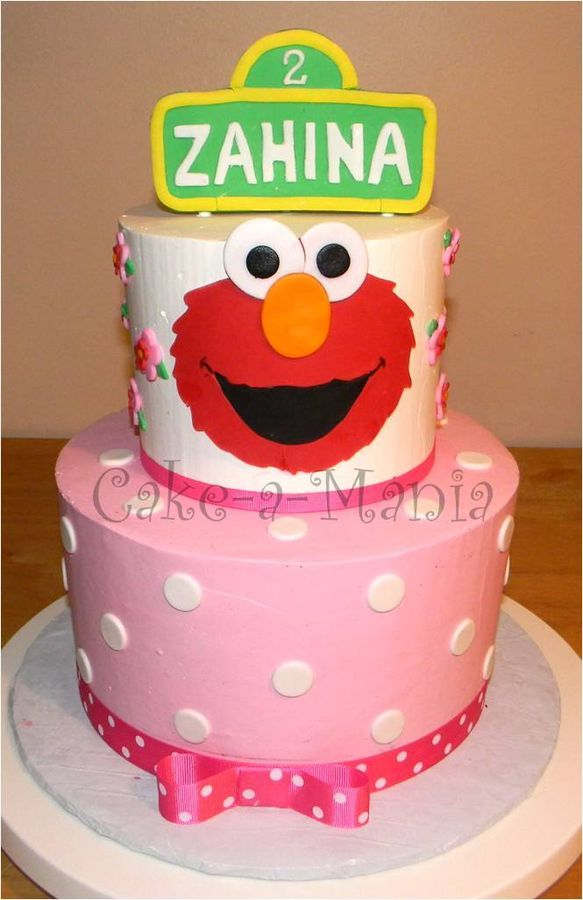 Girly Elmo Cake Bday Elmo Birthday Elmo Birthday Cake