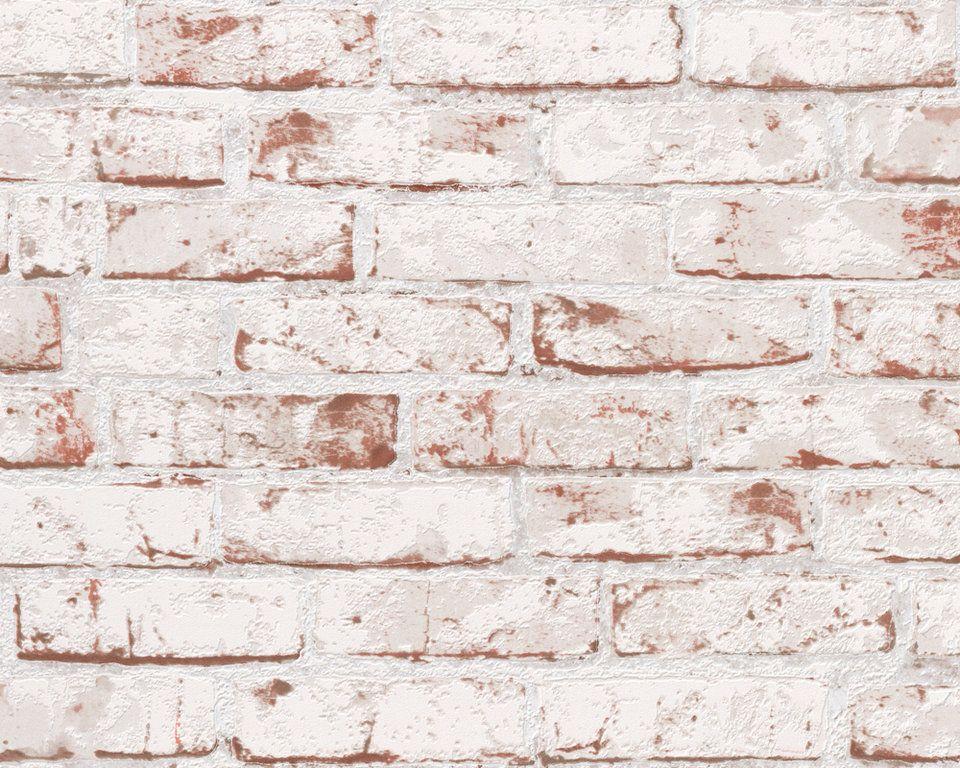 New England Tapeten Guenstig Online Kaufen Gestrichene Ziegelwande Tapeten Vliestapete Steinoptik