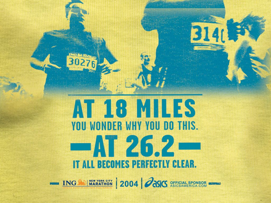 Free New York City Marathon 2004 Poster Wallpaper Download The