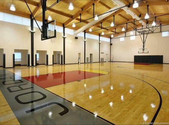 Michael Jordan S Mansion His Own Gym Nba Basketball Court Indoor Basketball Court Home Basketball Court Indoor Basketball