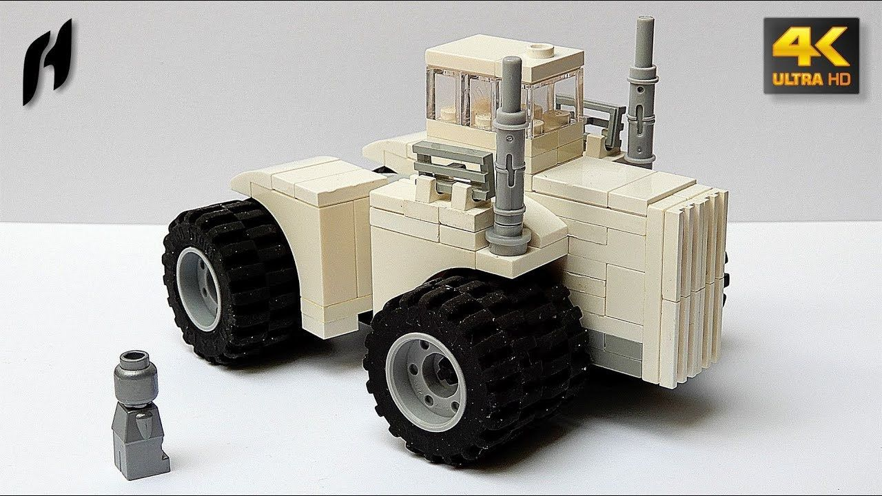 Small Lego Massive Giant Articulated Tractor Big Bud Moc 4k