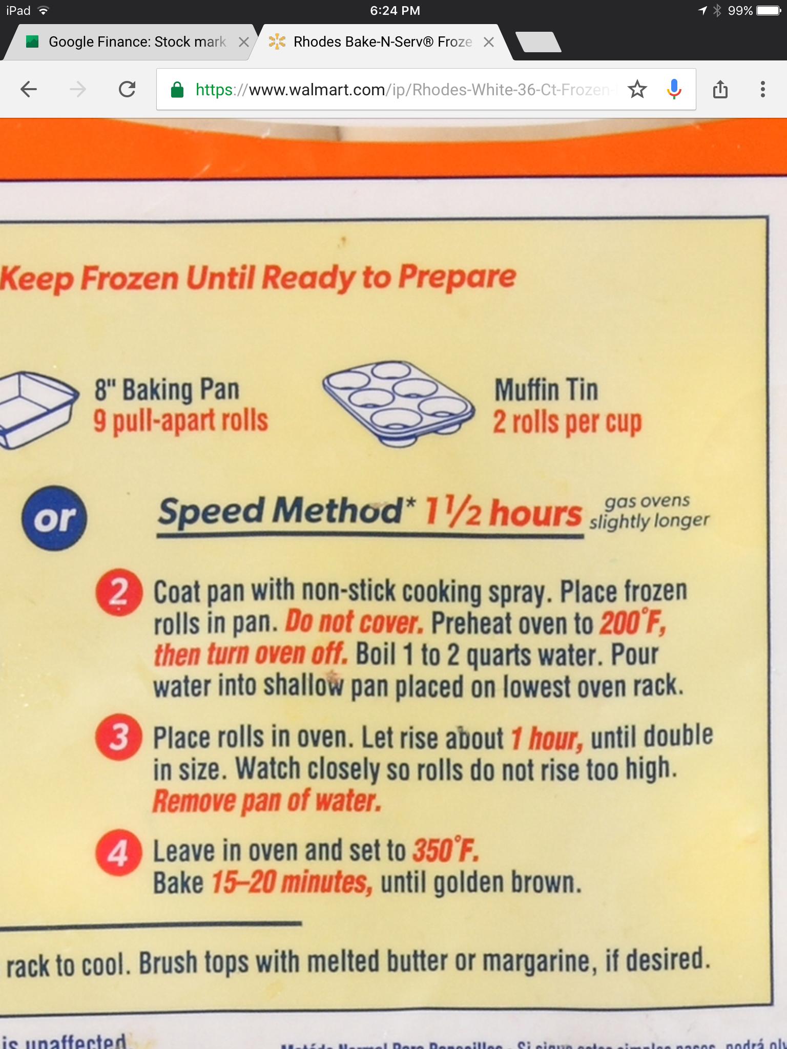 Oven Proofing Baking By Rhodes Rolls Frozen Rolls Rhodes