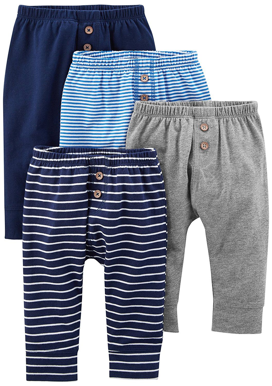 f2ce978cf Amazon.com: Simple Joys by Carter's Baby Boys' 4-Pack Pant: Clothing ...