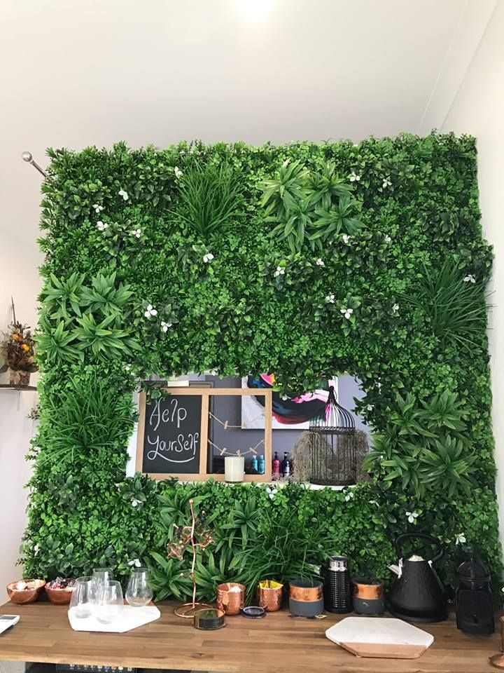 our customizable vertical garden and boxwood hedge on interior using artificial boxwood panels with flowers id=91984