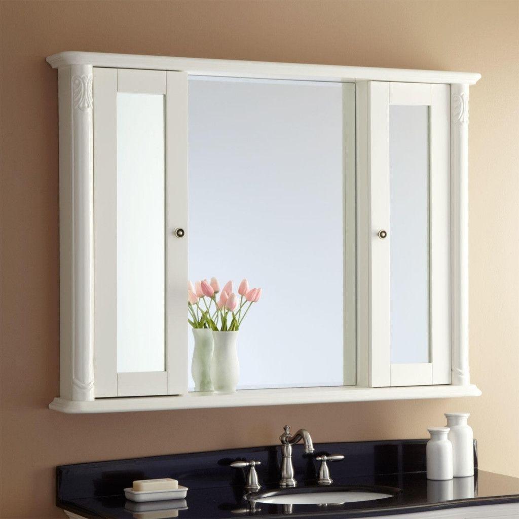 how to replace bathroom vanity mirror
