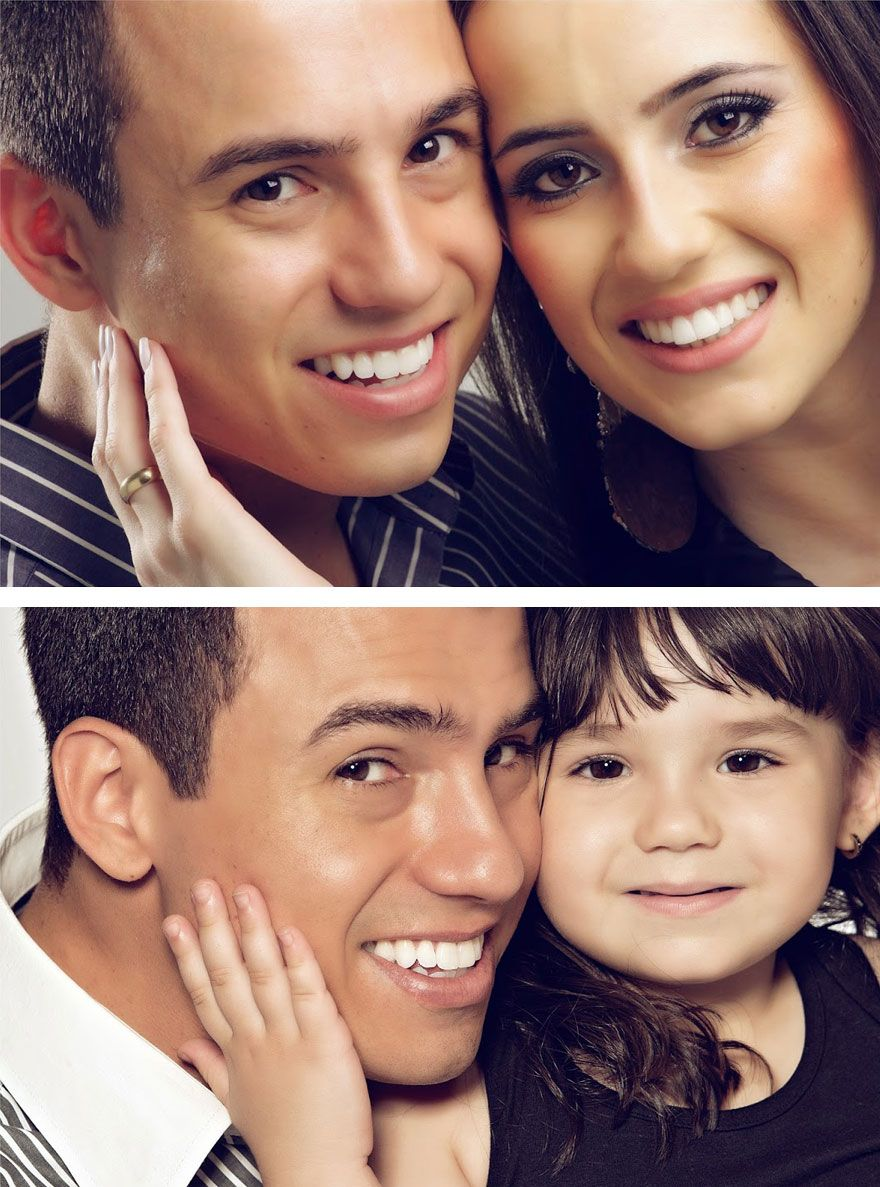 Grieving Man Recreates Photos Of His Late Wife With 3-Year