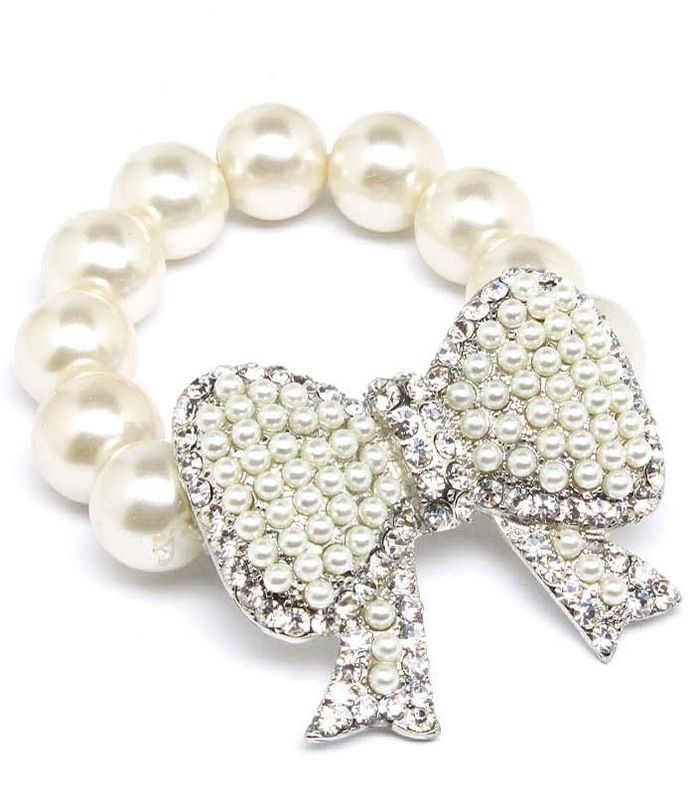 Wrap Me In A Bow Of Pearls Bracelet