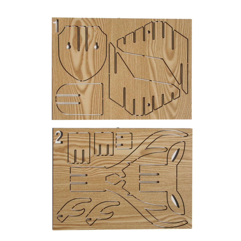 Trofeo de pared ciervo puzzle 3d trofeos cabeza animal for Diseno de muebles de madera