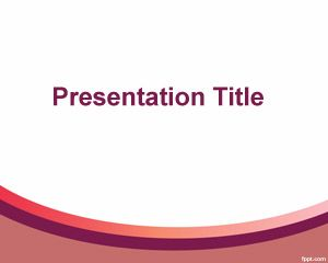 free benefits powerpoint template with nice curved line effect, Presentation templates
