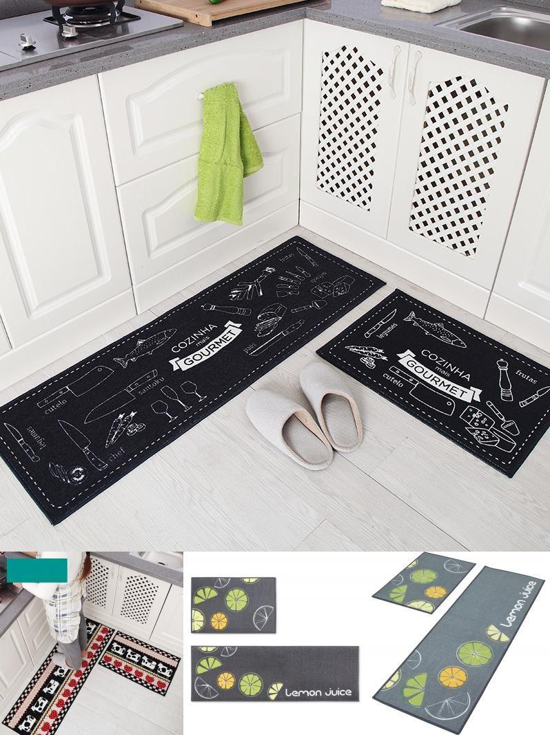 Visit to Buy] 2 Pcs/Set High Absorbency Bath Mats Carpet, Kitchen ...