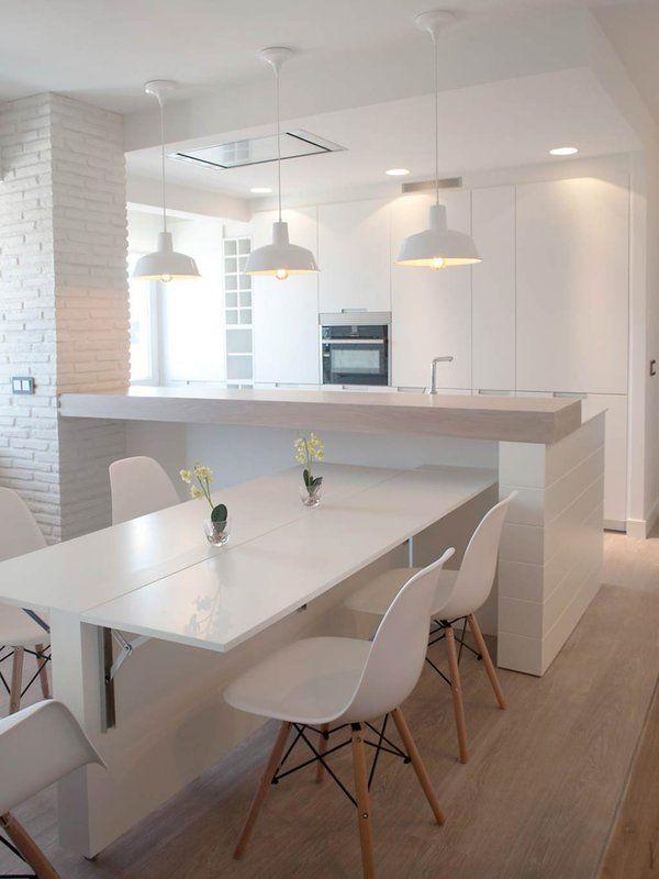 Un piso abierto y adaptable con vistas al mar | Mesas, Cocinas y ...