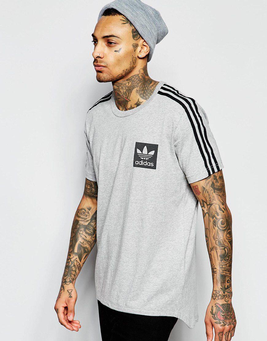 Image 1 of adidas Originals T-Shirt With Box Logo AJ8067 Mens Tall Shirts 82dae5219e9