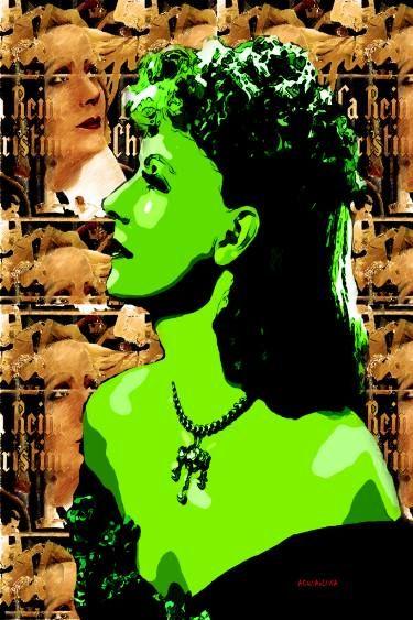 "Saatchi Art Artist ACQUA LUNA; Painting, ""13-Greta Garbo. POP Art."" #art"
