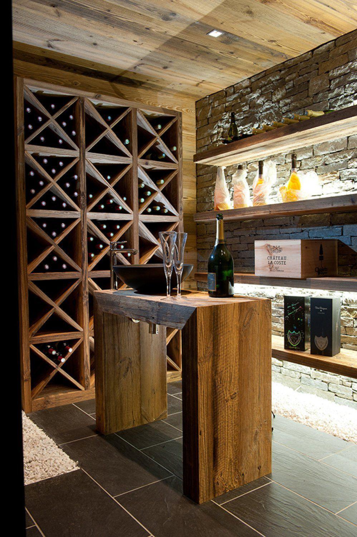 cave a vin design avec photo de chalets, maisons ossature bois et