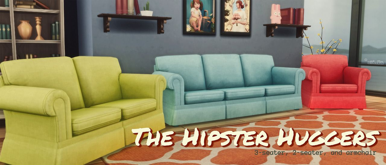 HIPSTER HUGGERS U2013 By Amoebae I Had A Request To Do A More Cozy And Worn  Retexture And Recolour Of The Hipster Hugger 3 Seater Sofa, Along With  Plasticboxu0027s ...