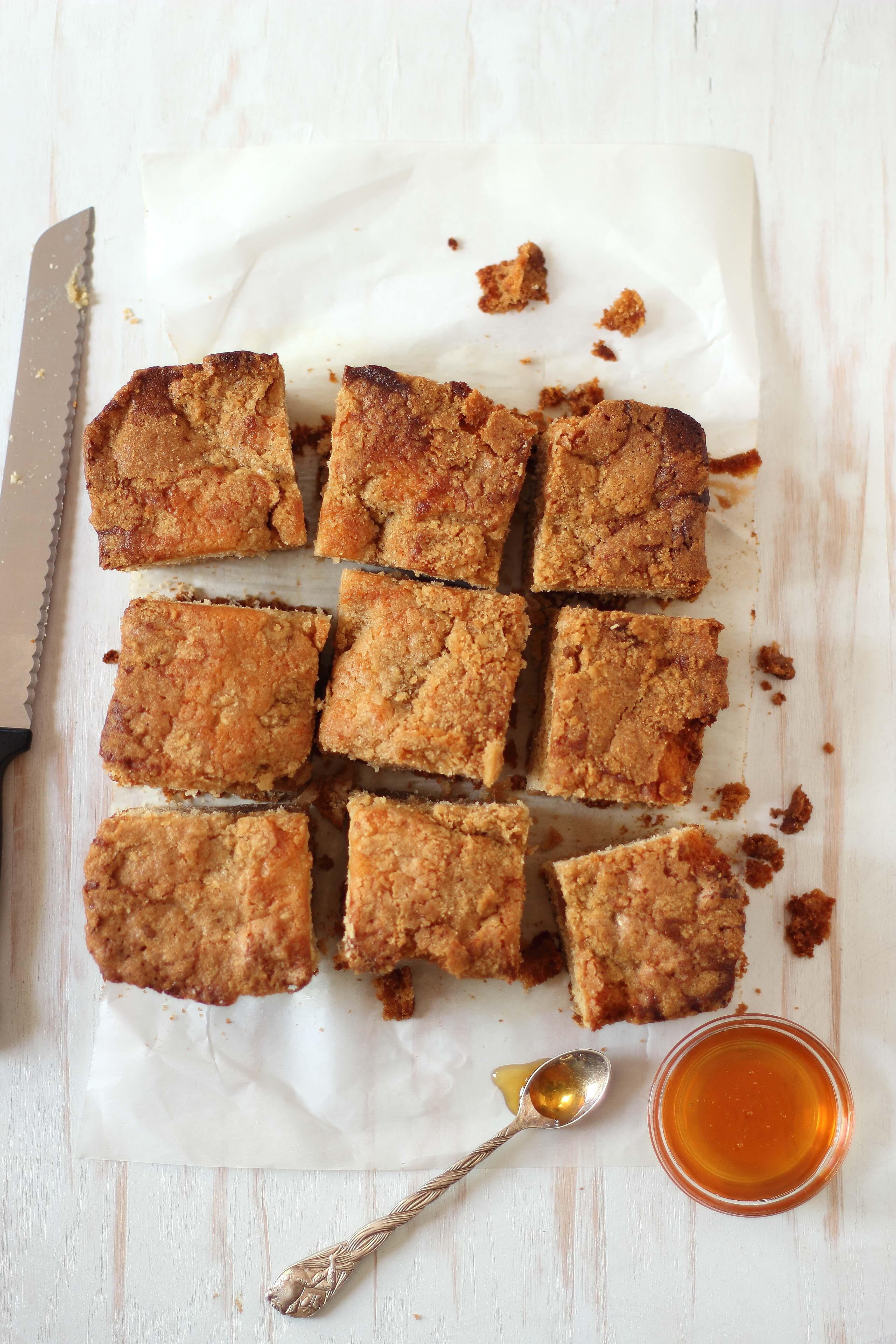 Honey Streusel Coffee Cake Recipe Streusel Coffee Cake Coffee Cake Cake Recipes