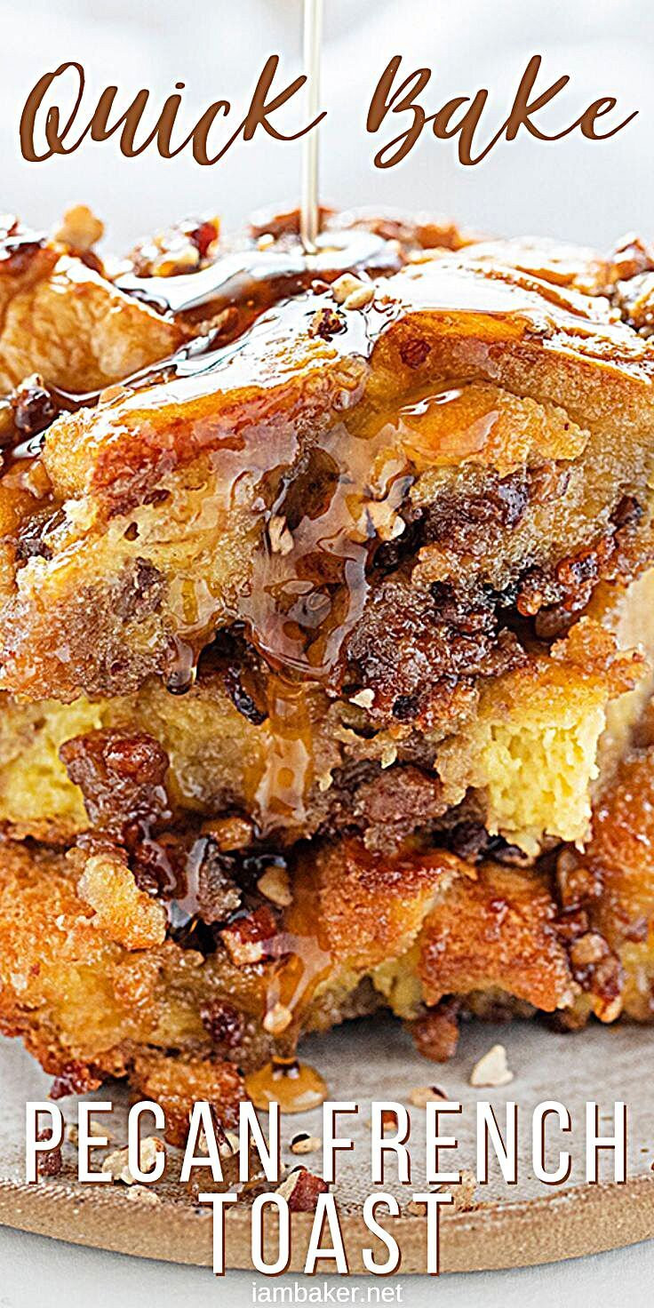 - Baked Pecan French Toast has the substance to fill you up with the sweetness to make it feel like...