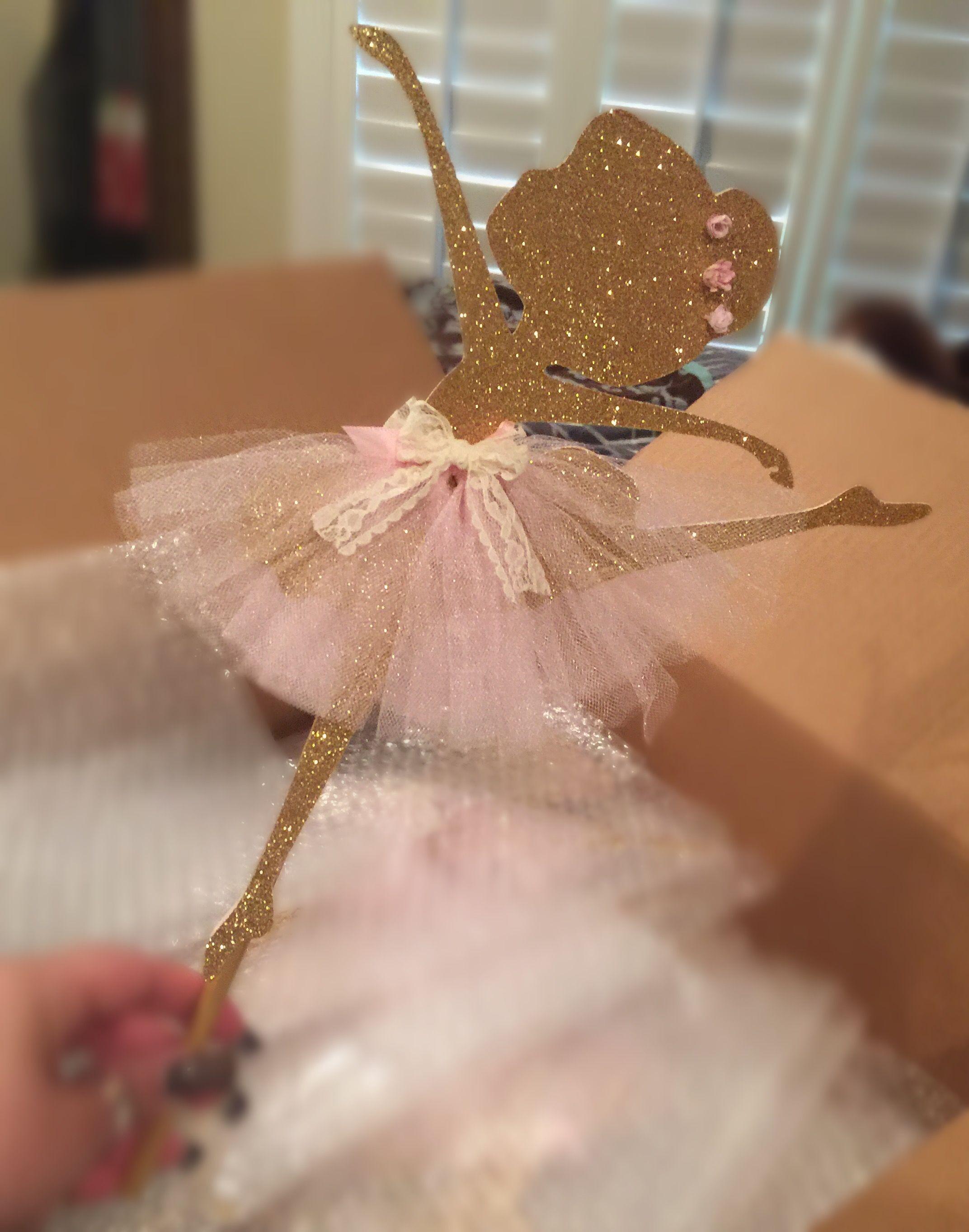 Ballerina Centerpiece Diy Baby Shower Pinterest