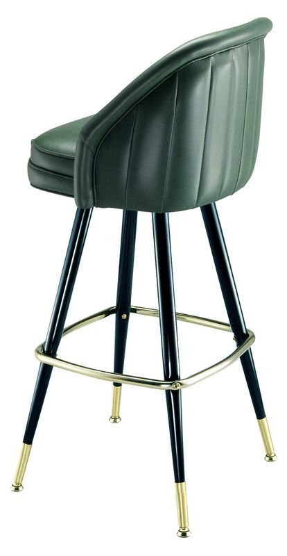 Elegant Retro Swivel Bar Stools with Backs