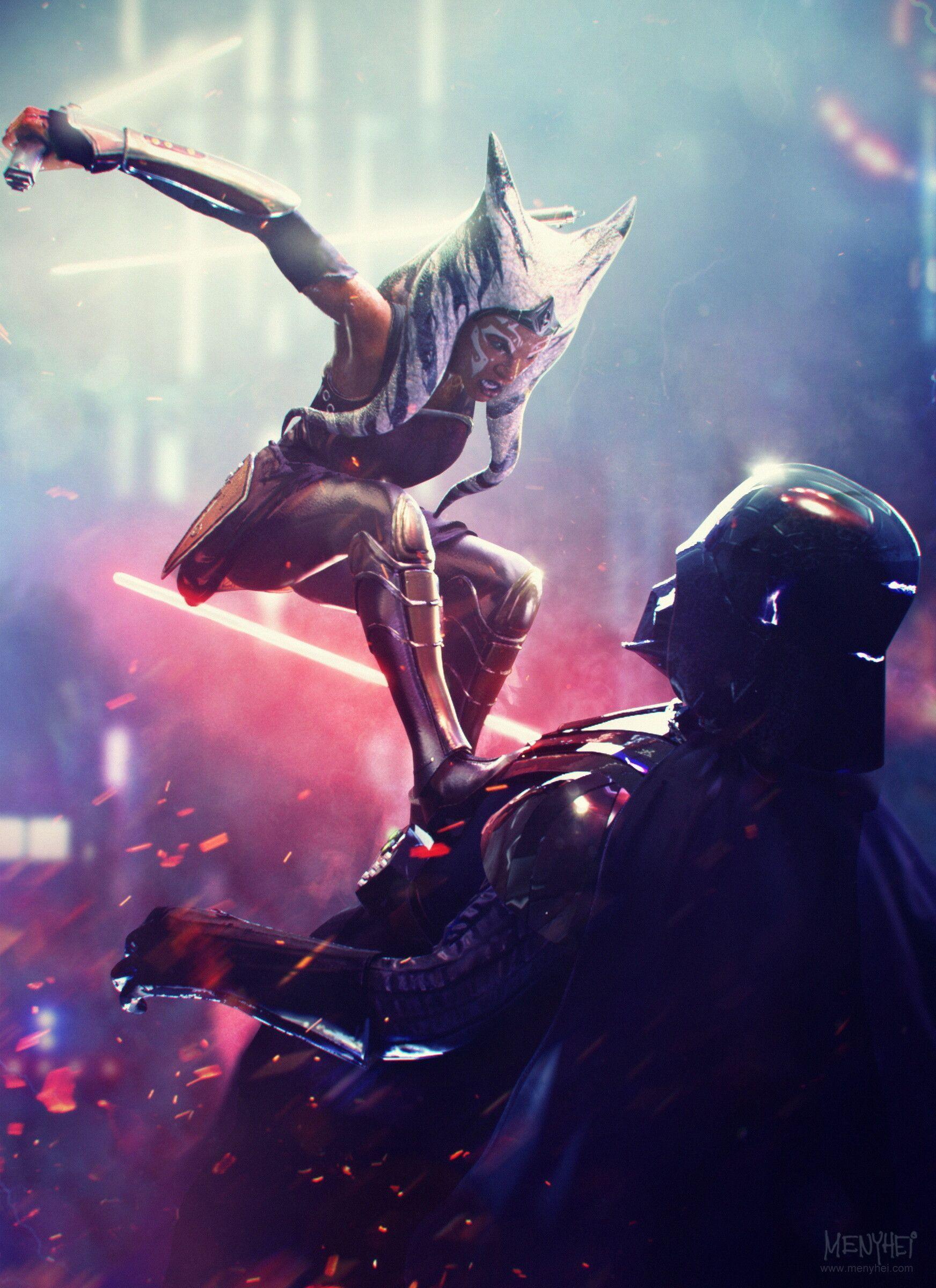 ArtStation - I am no jedi - Ahsoka Tano vs Vader, Saby Menyhei #odyssÉe ArtStation - I am no jedi - Ahsoka Tano vs Vader, Saby Menyhei #odyssÉe