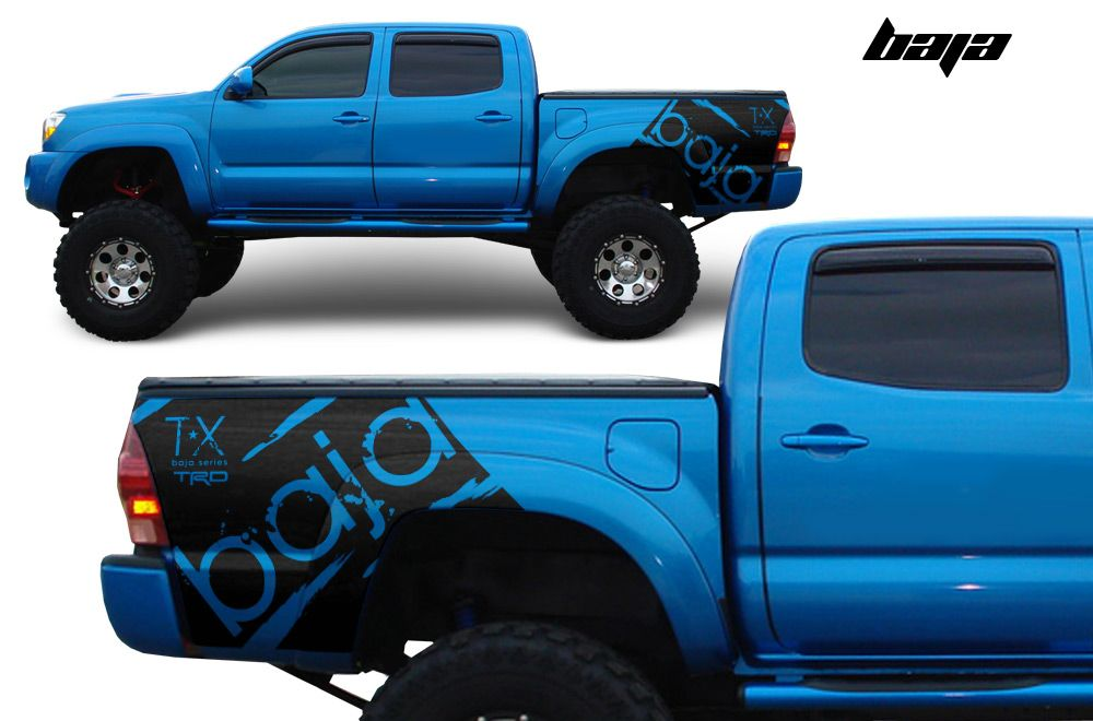 Toyota Tacoma TRD Art Fender Graphics Vinyl Sticker Decal Matte - Truck bed decals customford fvinyl graphics for bed fender