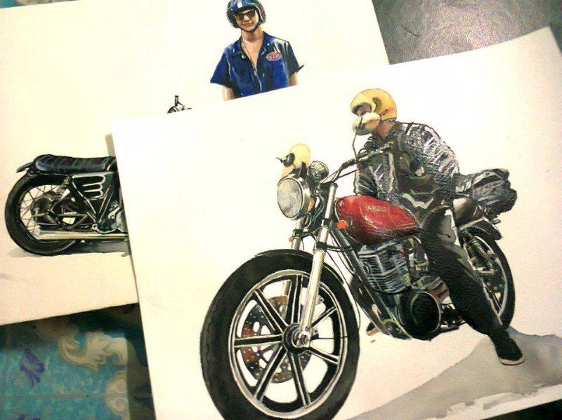 Motorcycle Paintings  Hand painted water colors of your favorite pictures - See more at: http://www.omegaracer.com/parts_store/prod_2662758-Motorcycle-Art.html#sthash.2tXWhDxG.KqbwKLvO.dpuf