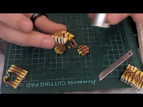 Fimo e Swarovski Chaton - Tutorial Orecchini Fimo Swarovski Ball Art Bijoux - YouTube