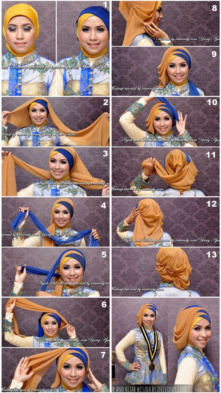 Tutorial Hijab Wisuda Inivindy Kumpulan Model Hijab Dan Tutorial