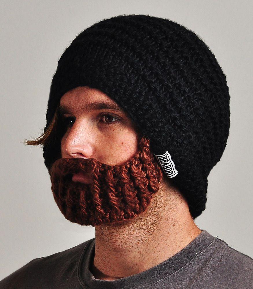 Nog geen flauw benul welk kerstcadeautje je kan geven aan zoon-/man-lief voor onder de kerstboom???... The 'World's Only Beardo beard hat' with a  foldaway, detachable and adjustable beard!