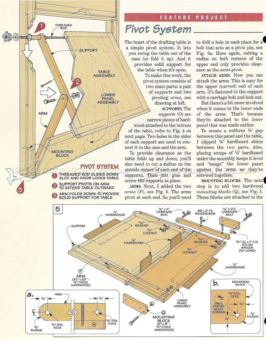 373 Fold Down Drafting Table Plans Work Solutions Tips And Tricks