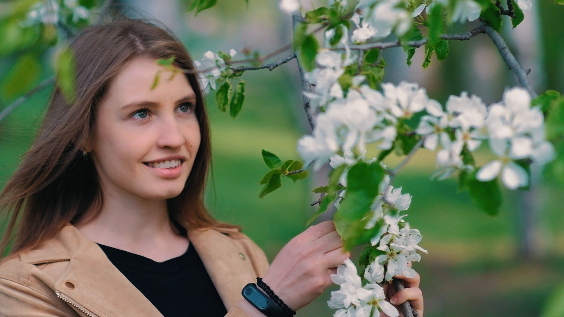 Beauty Young Woman Enjoying Nature In Spring Apple Orchard Happy Beautiful Girl Stock Footage Enjoying Natu Beautiful Girl Video Beauty Beauty Tips For Teens