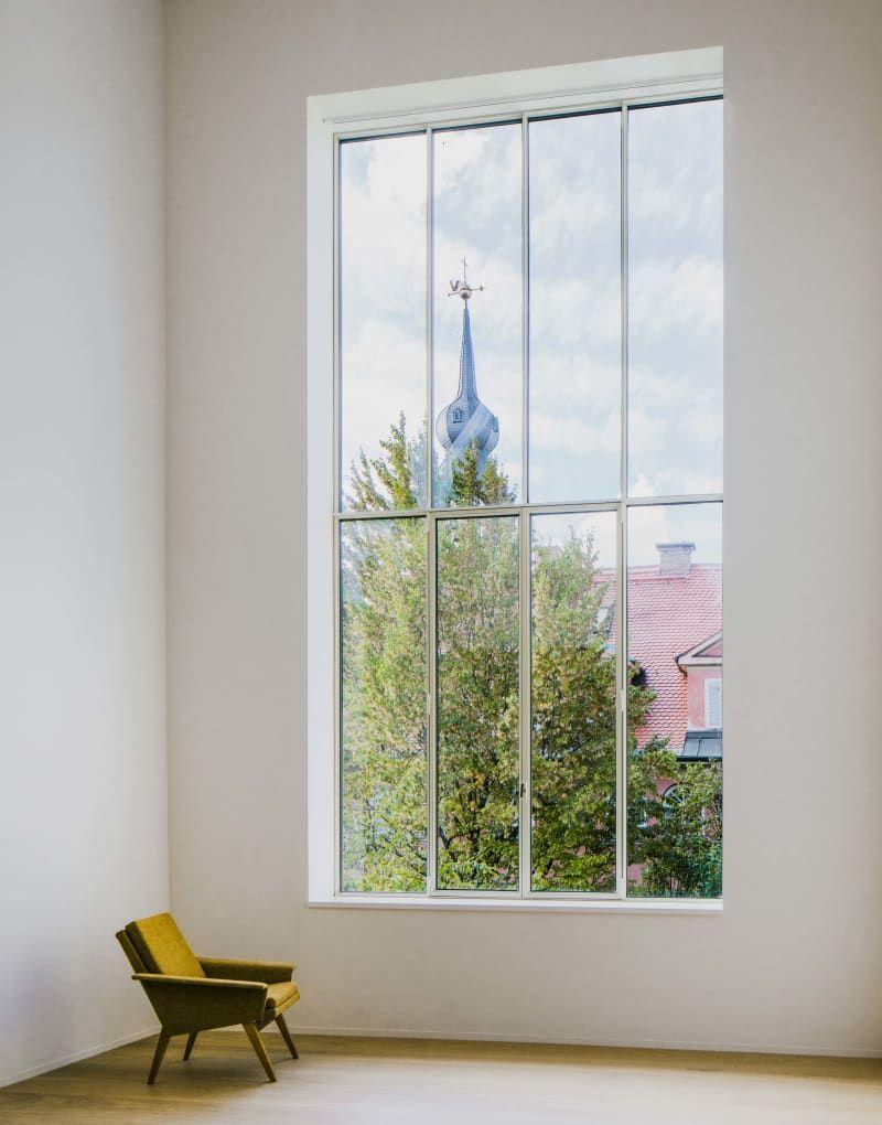 Chipperfield baut in Bogenhausen   Große fenster, Tageslicht und Fenster
