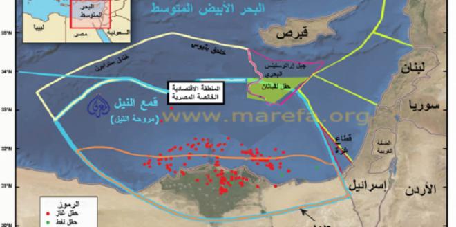 أطماع اسرائيل في الغاز المصري تتلاشى Art Map Map Screenshot