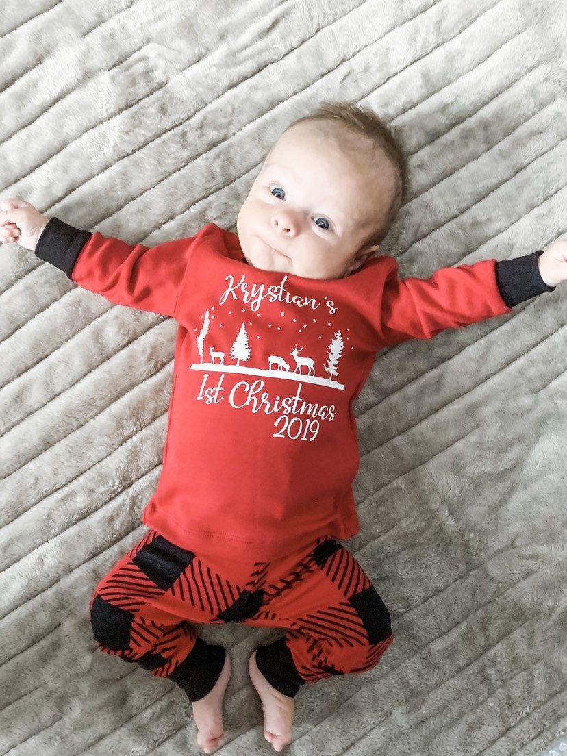 First Christmas Pajamas for Baby Boy, Boys First Christmas