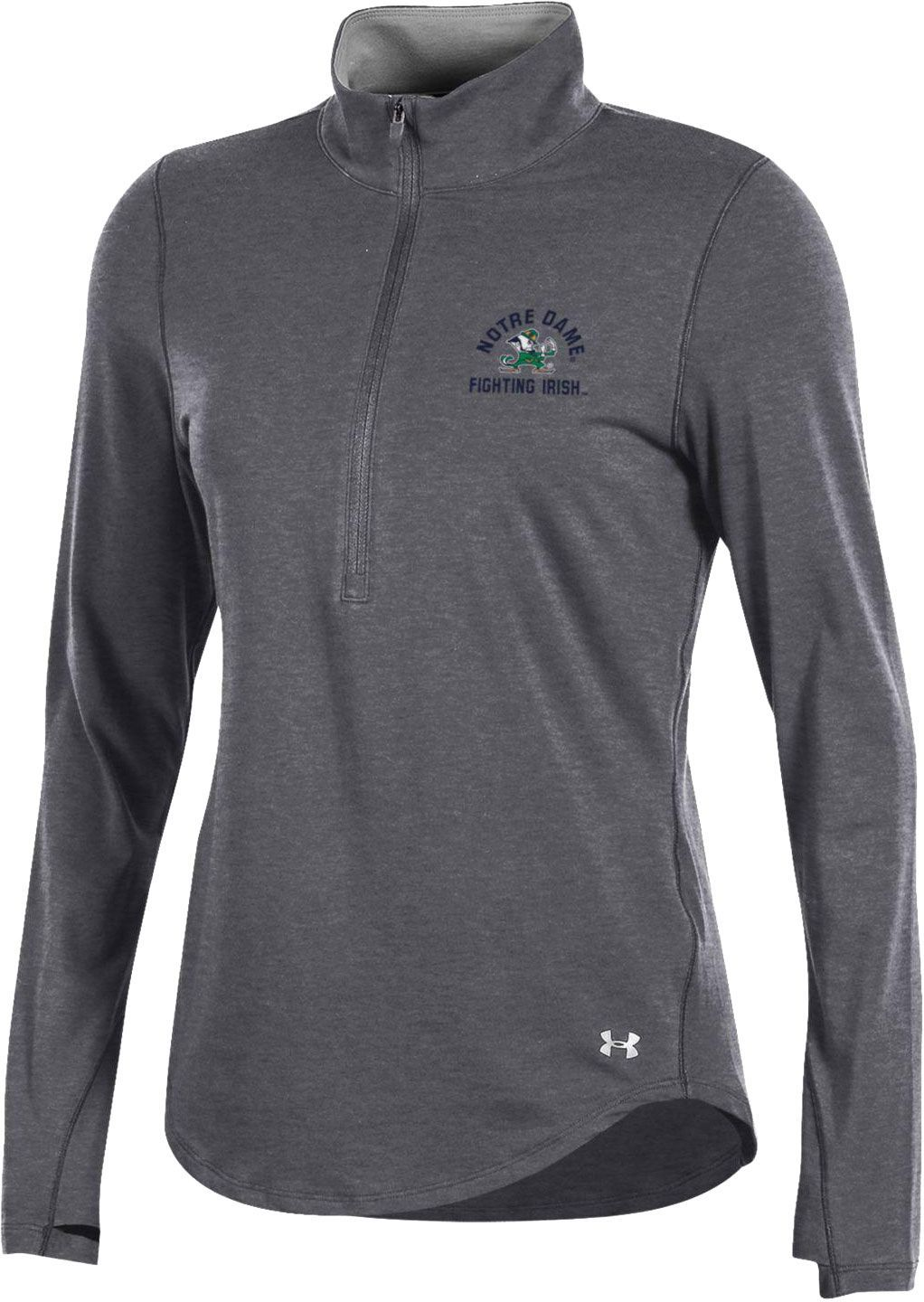 4f17fa8e Under Armour Women's Notre Dame Fighting Irish Grey Charged Cotton Quarter-Zip  Shirt | DICK'S Sporting GoodsProposition 65 warning iconProposition 65 ...