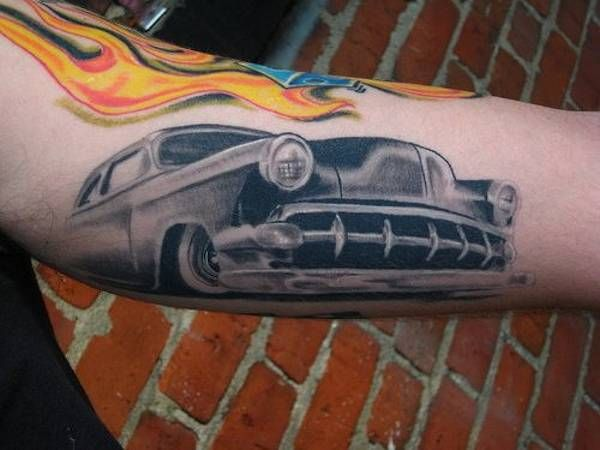 Hot Rod Car And Truck Tattoo 39