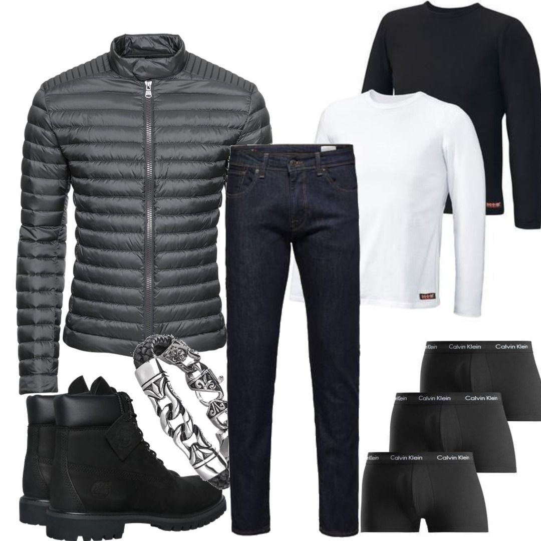 online retailer d0624 07929 Colmar Jacke MENS DOWN JACKET dunkelgrau Men Outfit für ...