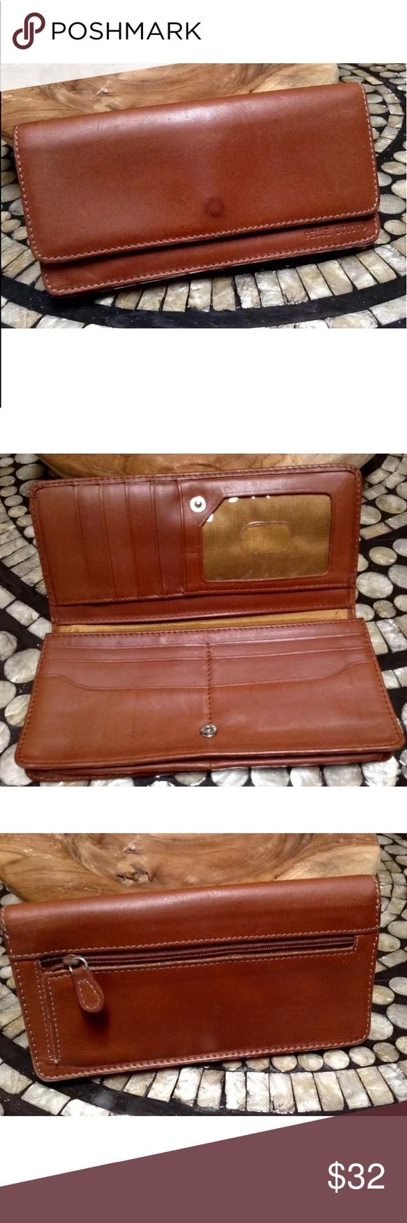 PELLE STUDIO Wilson's British tan leather wallet Leather