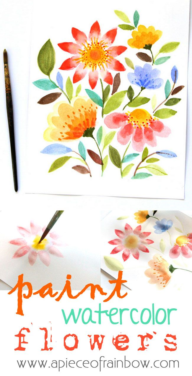 Paint Watercolor Flowers In 15 Minutes 2019 Water Colors For