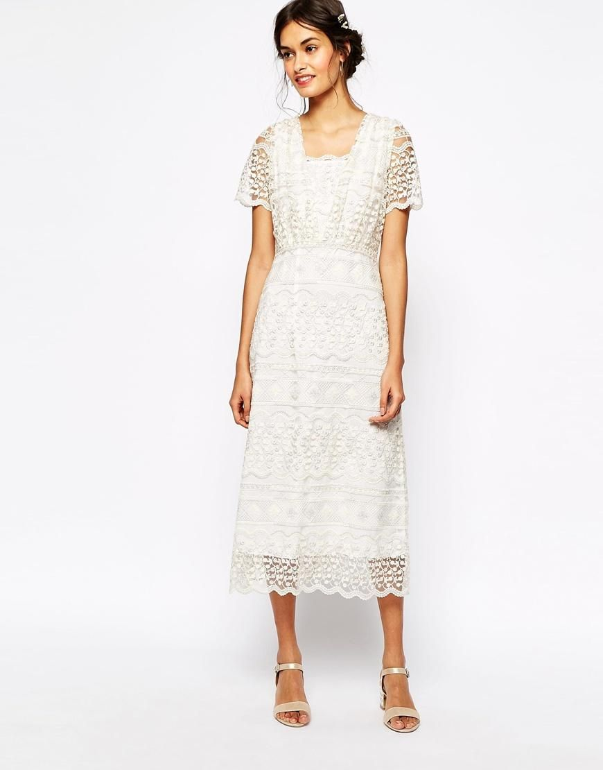 Soma london soma london vintage lace maxi dress with metallic
