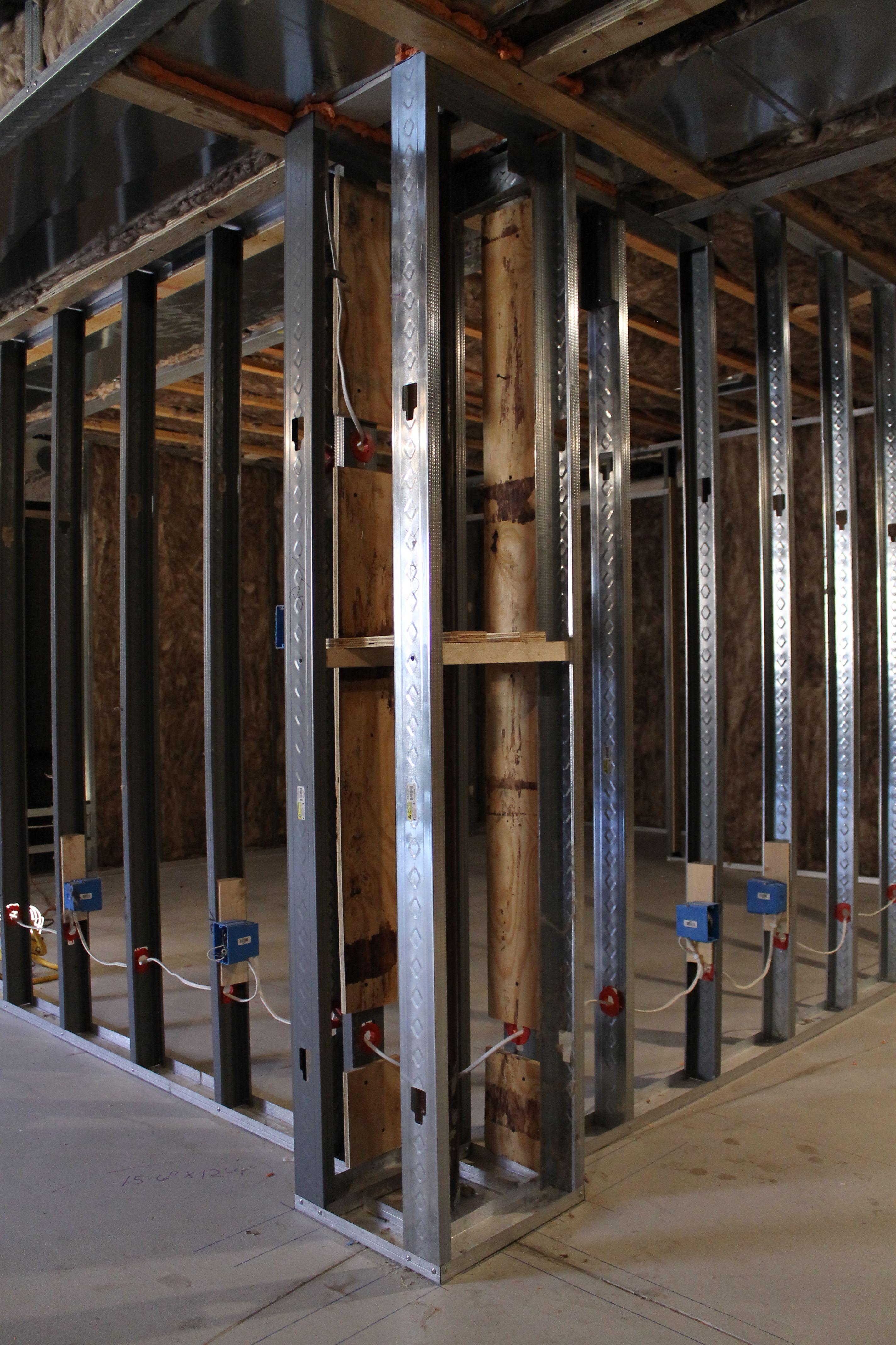 Metal Stud Construction Metal Stud Wall Framing Metal Stud Framing Stud Walls Framing A Basement