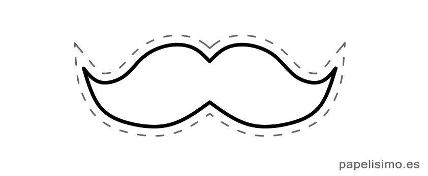 Plantilla-bigote-vintage-para-imprimir | manualidades | Pinterest ...