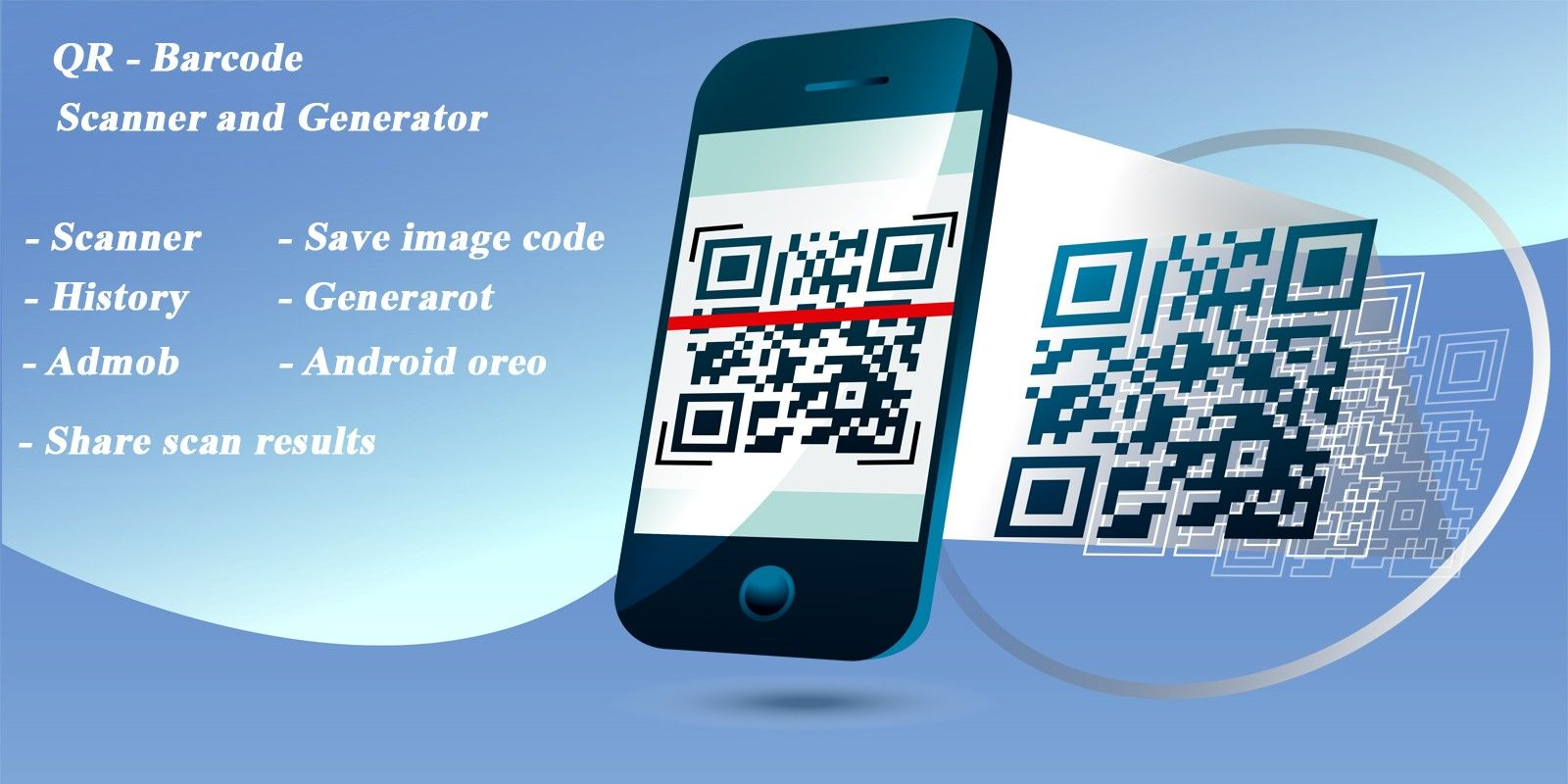 Codester Android App Bar Qr Barcode Qr Code Barcode Scanner App Buy Android Project Buy Qr And Qr Barcode Barcode Scanner Android Oreo