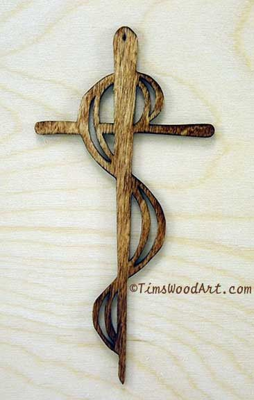 Serpent Cross Handmade Cross For Wall Hanging Or Ornament