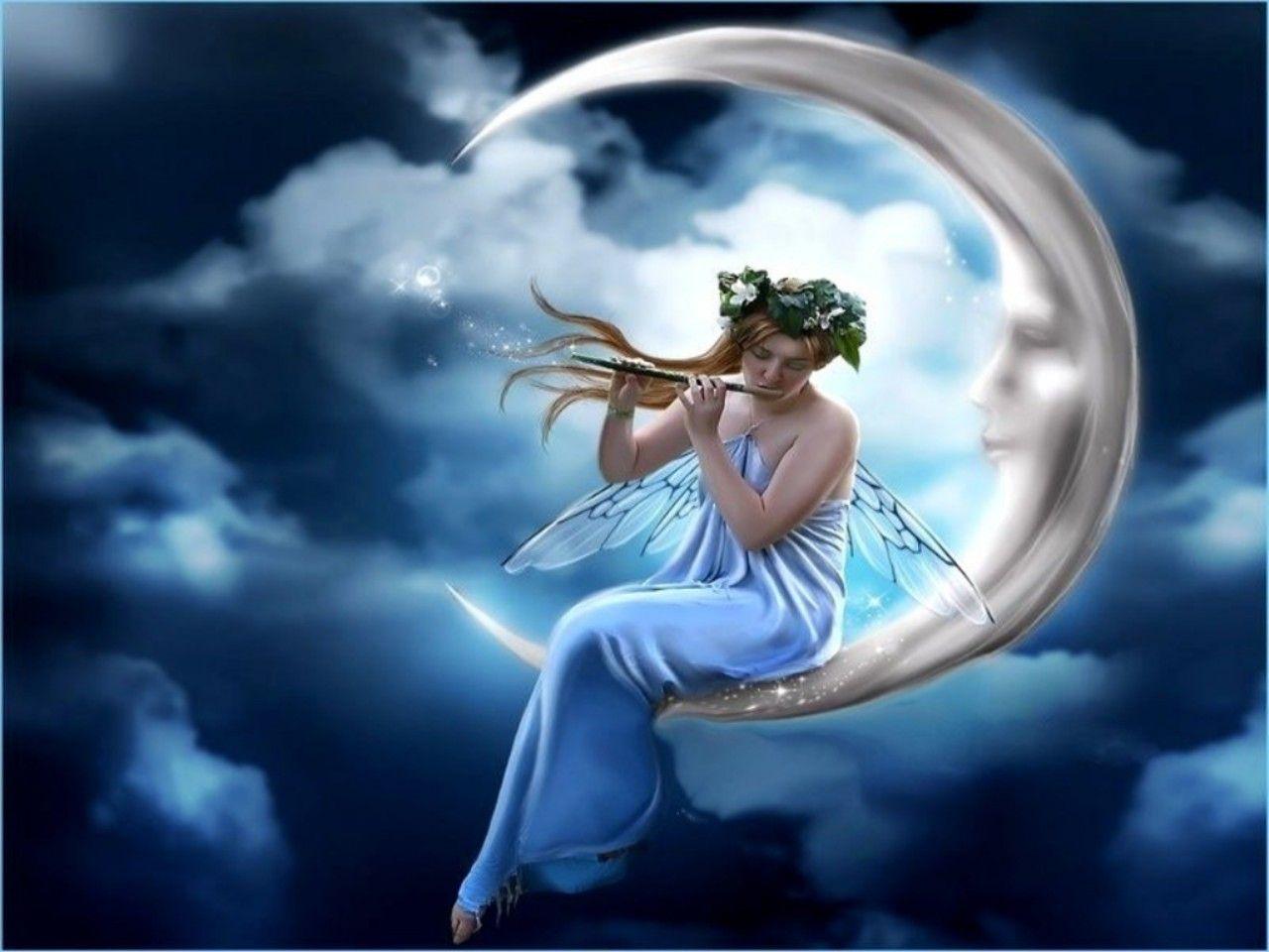 Moon Fairy Fairy Wallpaper Fairy Pictures Beautiful Fairies