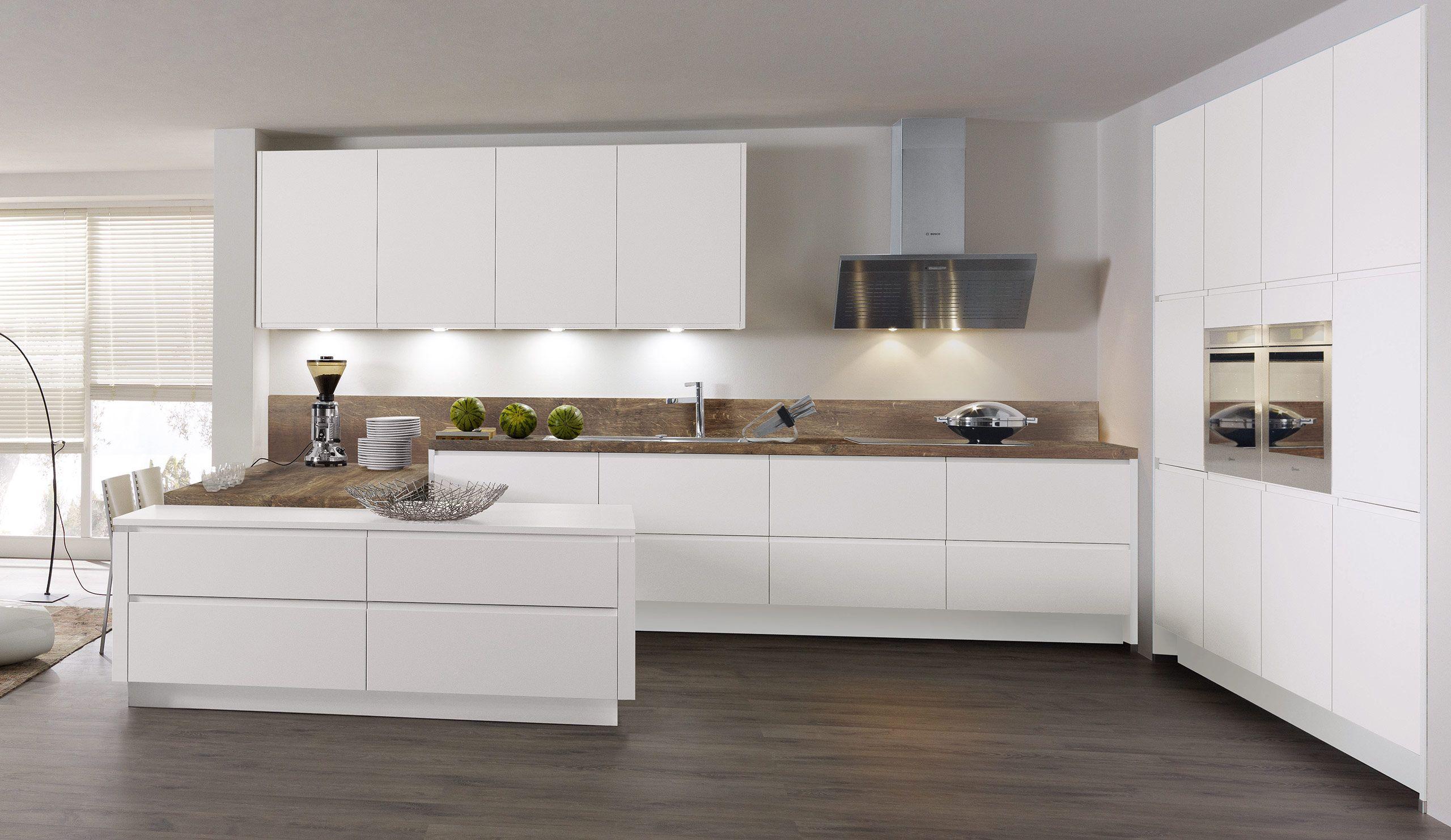 Einbauküche Ayda Weiß | Küche hochglanz, Küche und Einbauküche