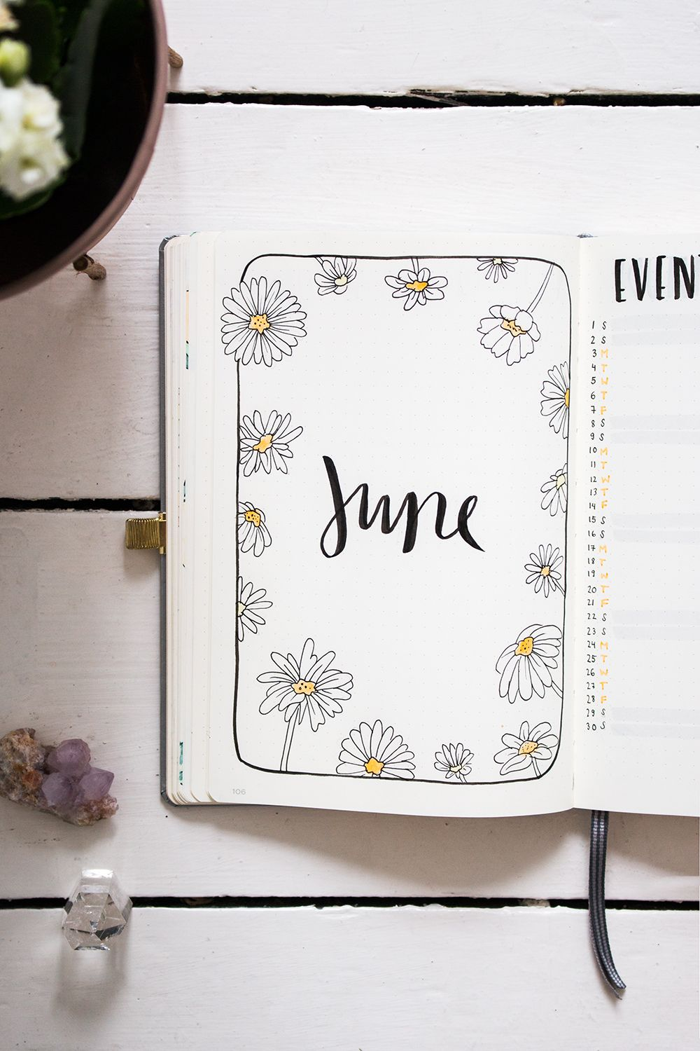 Plan with me: Bullet Journal Setup June 2019 #septemberbulletjournalcover